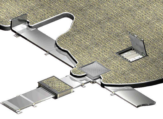 Underfloor Trunking System